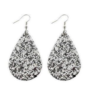 Sparkly tear drop earrings